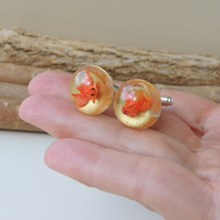 Goldfish Cufflinks - SALE (1364)