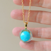 Blue Skittles Sweet  Resin Necklace (1509)