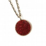 Red Spangles Resin Necklace (181)