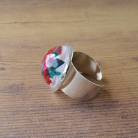 Skateboard Shavings Resin Cabochon Ring (144)