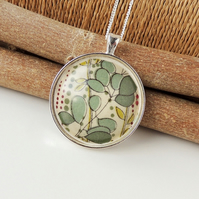 Green Leaf Necklace - SALE (1346)