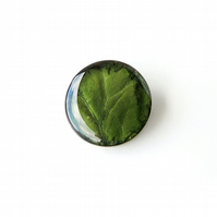 Green Leaf Brooch - SALE (1088)