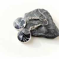 Black Lace Earrings - SALE (1221)