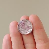 Pink Glitter Ring - SALE (728)
