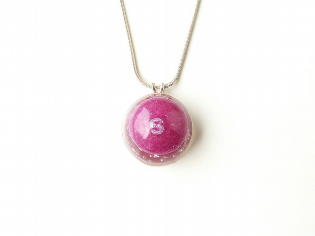 Purple Skittles Sweet  Resin Necklace (2318)