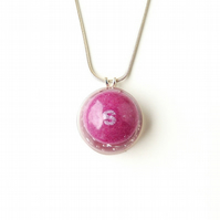 Purple Skittles Sweet  Resin Necklace SALE (2318)