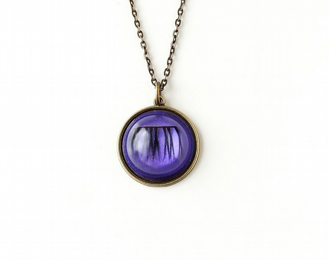 Purple Eyelash Necklace (2271)