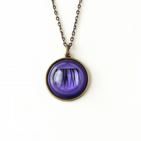 Purple Eyelash Necklace - SALE (2271)