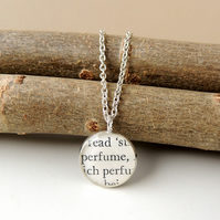 SECONDS: Perfume Words Resin Necklace (1888)