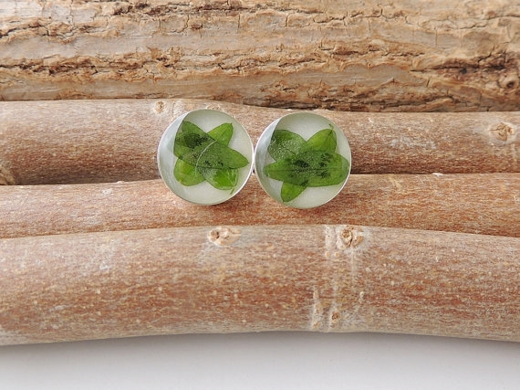 Green Leaf Cufflinks - SALE (2280)
