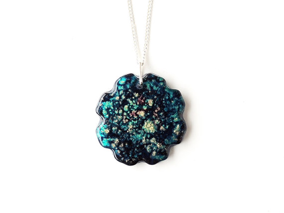 SALE: Blue Resin Necklace (1273)