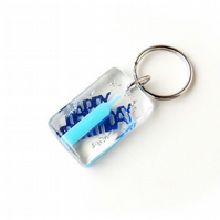 Happy Birthday Resin Keyring (1248)