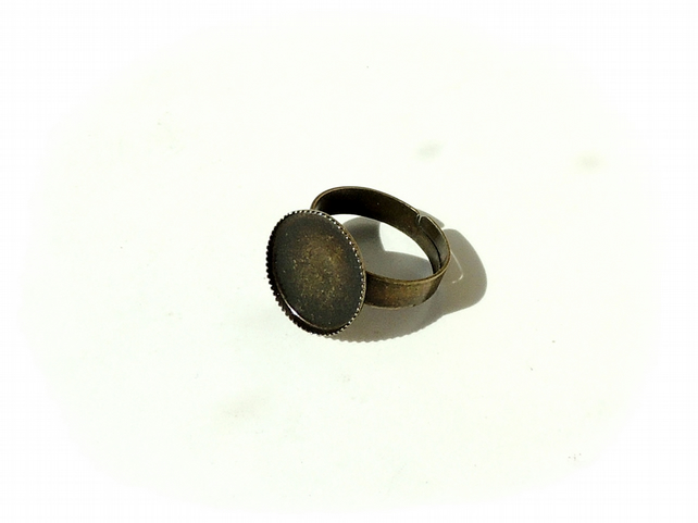 10 x Small Antique Bronze Adjustable Rings 14mm Bezel Setting  (1898)