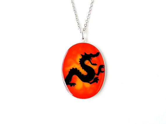Fire Dragon Necklace (1743)