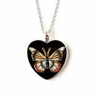 Butterfly Heart Necklace (248)