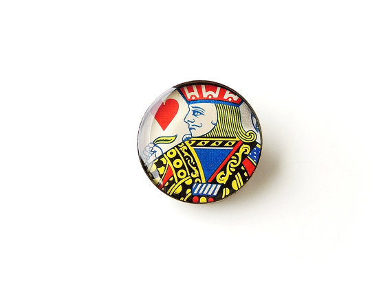 Jack of Hearts Resin Brooch (2311)