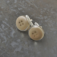 Brown Button Cufflinks (971)