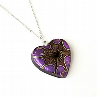 SALE: Purple Heart Necklace (1644)
