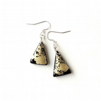 Black & Gold Earrings - SALE (2038)
