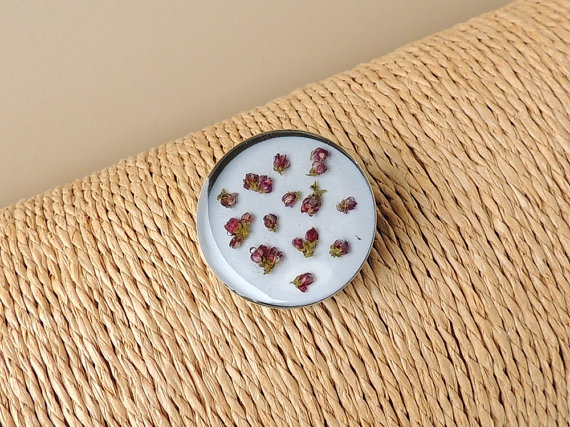 SECONDS: Flowers Resin Brooch (2042)