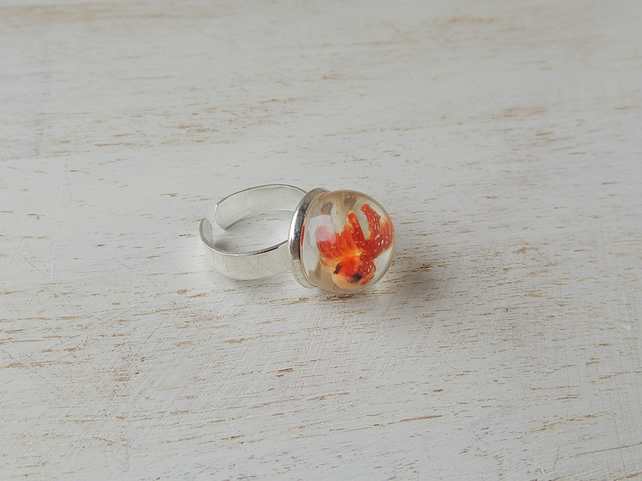 Goldfish Ring - SALE (2234)