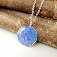 Blue Resin Pendant (314)