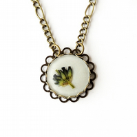 Lavender Flower Necklace (2291)