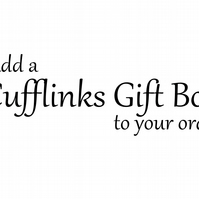 Add a Cufflinks Gift Box to Your Order