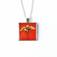 Orange Flowers Necklace - SALE (792)