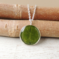 Green Leaf Necklace - SALE (2156)