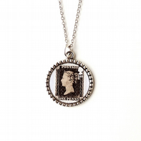 Penny Black Pendant - SALE (2128)
