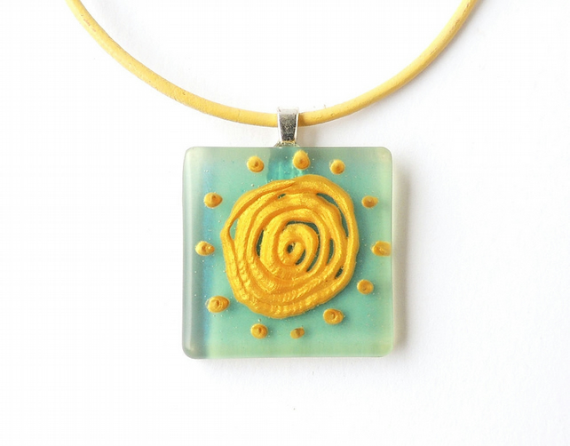 Blue and Yellow Necklace - SALE (250)