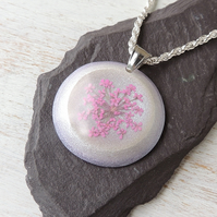 Pink & Purple Flower Necklace (1317a)