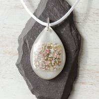 White Heather Necklace (801a)