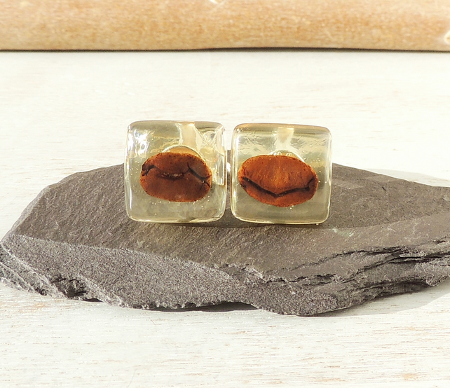 Coffee Bean Cufflinks SECONDS (2349)