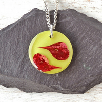 Red Leaf Necklace (2146)
