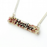 Heather Name Bar Necklace - SALE (2008)