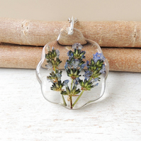 Large Lavender Flower Necklace - SALE (1003a)