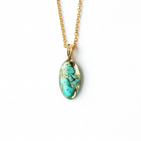 Turquoise & Gold Necklace - 2397