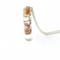 Flower Bottle Necklace - SECONDS (378aa)