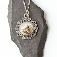 Heather Cabochon Necklace - 1442a