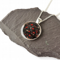 Black & Red Pendant Necklace - SECONDS - 881