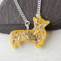 Yellow Dog Necklace - SALE (909)