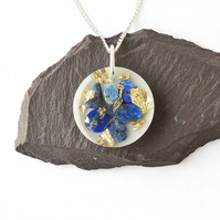 Blue & Gold Pendant - 317