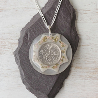 Sixpence Flower Necklace - 1633