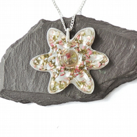 Heather Flower Necklace - SALE (2363)