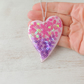 Large Pink & Purple Heart Pendant - 161