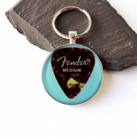 Blue Plectrum Keyring - 011