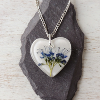 Blue Flower Necklace - 2157
