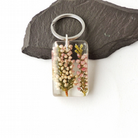Real Heather Resin Keyring, SECONDS - 775a
